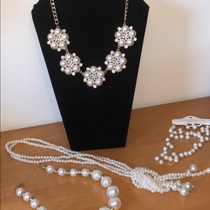 NWT Pearl & Rhinestone Fashion Jewelry Collection